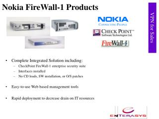Nokia FireWall-1 Products