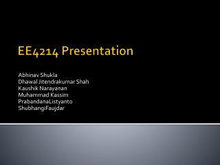 EE4214 Presentation