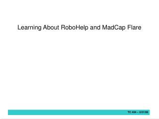 Learning About RoboHelp and MadCap Flare