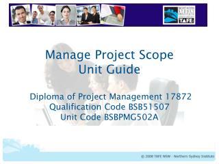Units of Study – Diploma