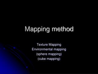 Mapping method