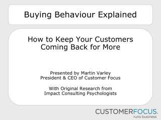 Buying Behaviour  Explained