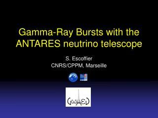 Gamma-Ray Bursts with the ANTARES neutrino telescope