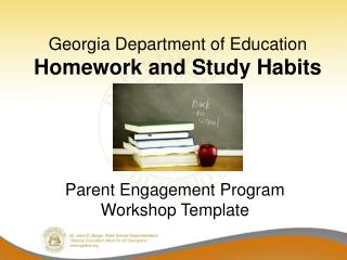 Georgia Department of Education Homework and Study Habits