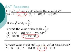 SAT Readiness
