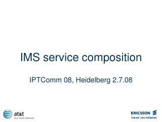IMS service composition