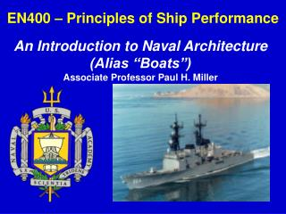 EN400   Principles of Ship Performance