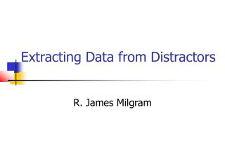 Extracting Data from Distractors