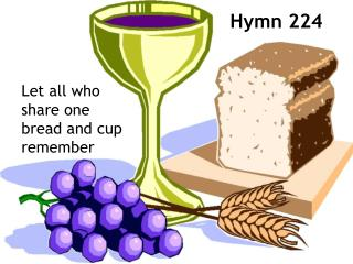 Let all who share one bread and cup remember