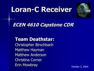 Loran-C Receiver