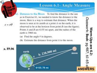 Lesson 6.1- Angle Measure