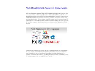Web Development Agency in Wandsworth