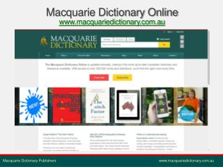 Macquarie Dictionary Online macquariedictionary.au