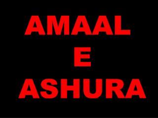 AMAAL  E ASHURA