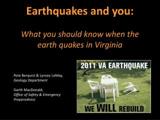 Earthquakes and you: What you should know when the earth quakes in Virginia