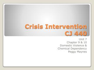 Crisis Intervention   CJ 440