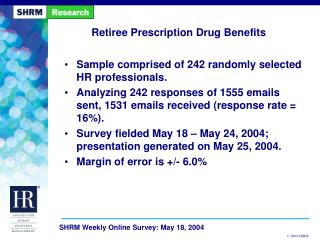 Retiree Prescription Drug Benefits