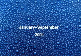 January–September  2001