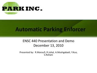 Automatic Parking Enforcer