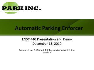 Automatic Parking Enforcer