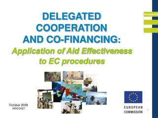 DELEGATED COOPERATION  AND CO-FINANCING: Application of Aid Effectiveness to EC procedures