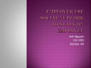 employer use social network to stalk on employee