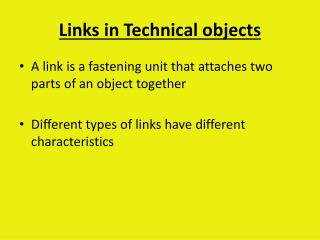 Links in Technical objects