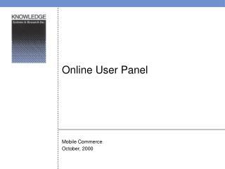 Online User Panel