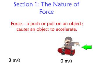Section 1: The Nature of Force