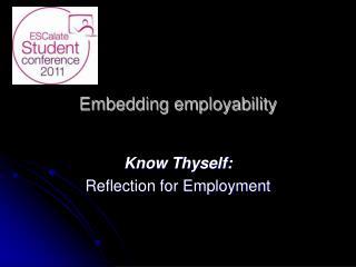 Embedding employability