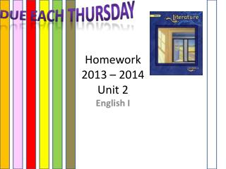 Homework 2013 – 2014 Unit 2