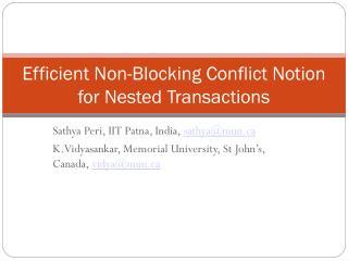 Sathya Peri, IIT Patna, India,  sathya@mun