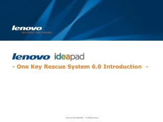 - One Key Rescue System 6.0 Introduction  -