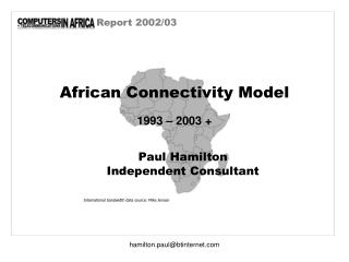 African Connectivity Model 1993 � 2003 +