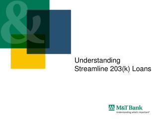 Understanding  Streamline 203(k) Loans