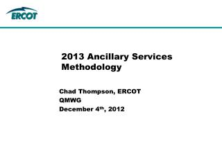 2013 Ancillary Services Methodology
