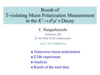 Result of  T-violating Muon Polarization Measurement in the  K + ? p 0 m + n  Decay