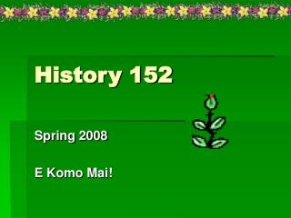 History 152