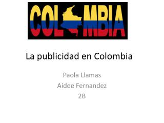 La publicidad en  Colombia