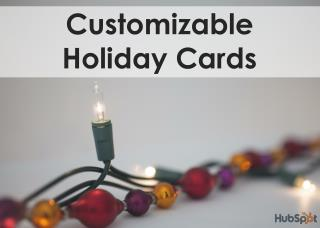 Customizable  Holiday Cards