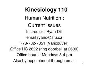 Kinesiology 110