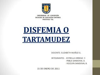 U UNIVERSIDAD     DE    CONCEPCIÓN  FACULTAD   DE   EDUCACIÓN  CONTINUA POSTITULO   TEL