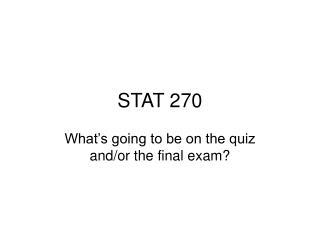 STAT 270