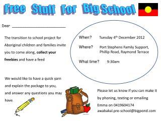 Free   Stuff   For   Big School