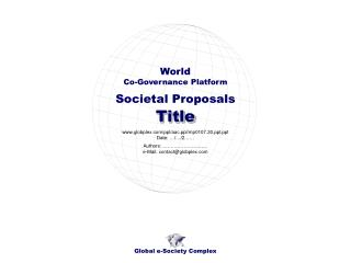 Societal Proposals