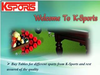 Pool And Table Tennis Tables For Sale