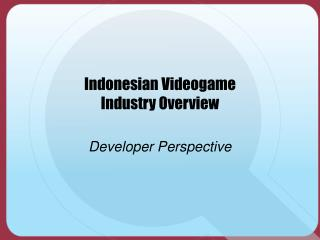 Indonesian Videogame