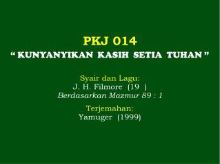 PKJ 014
