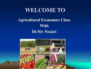 Agricultural Economics Class With Dr.Niv Nozari