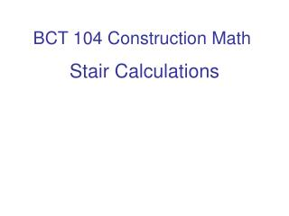 BCT 104 Construction Math